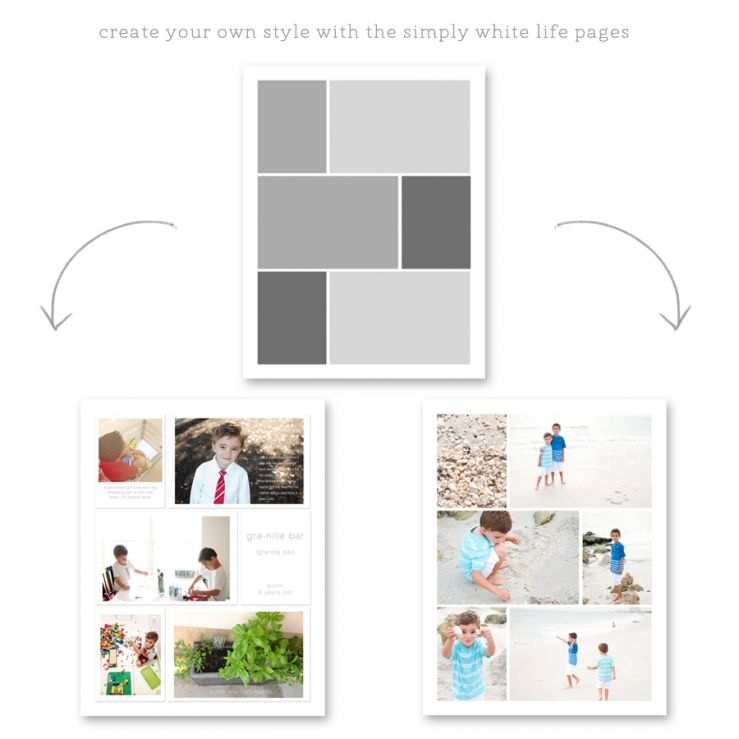 Simpy White Life Pages 85x11 And 8x10 For Project Life And Albums