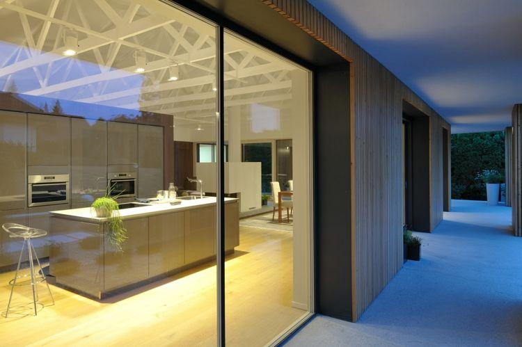 Fassade Aus Holz Und Offenes Wohnkonzept Im Modernen Einfamilienhaus