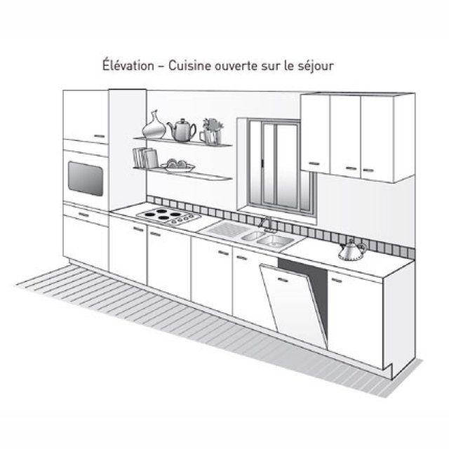 Plan de cuisine lin aire cuisine lin aire plan de for Ilot central carre