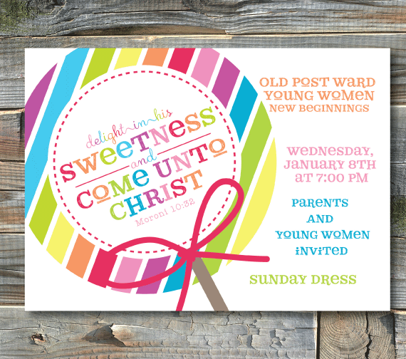 young women-new beginnings invitations
