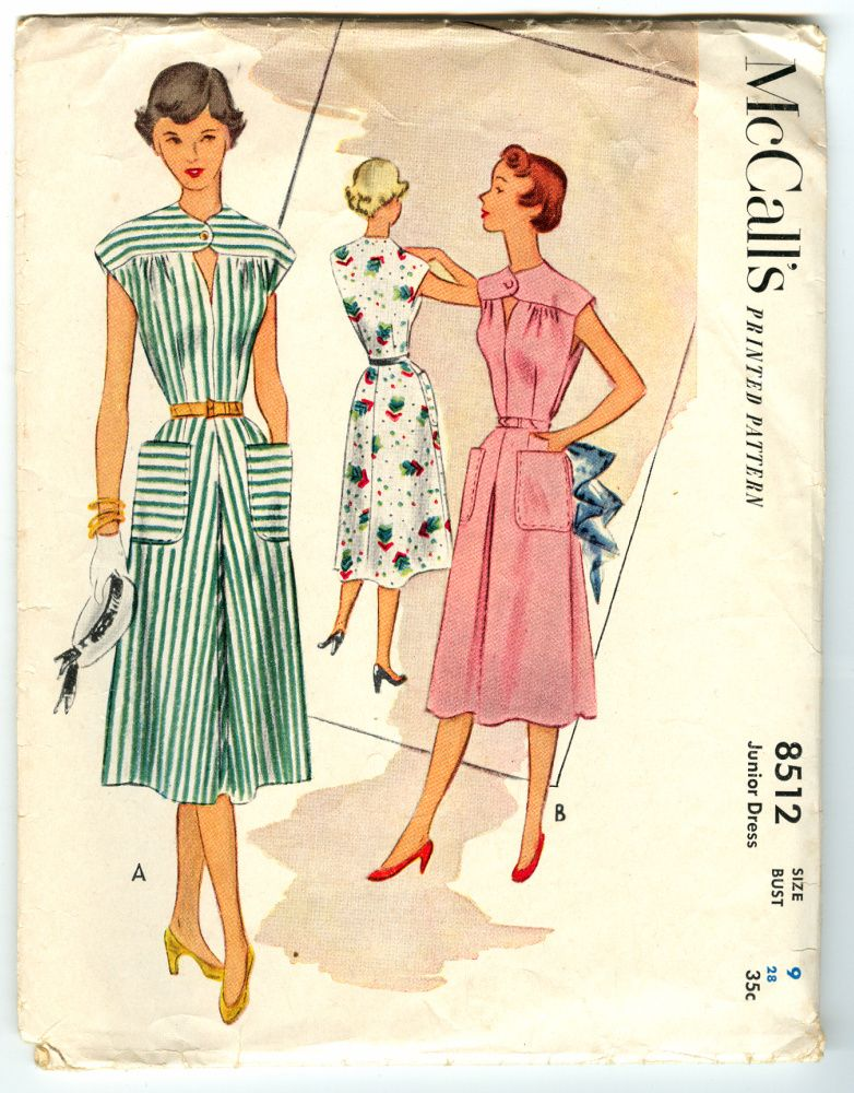 Mccall S 8512 A Vintage Sewing Vintage Sewing Patterns One Piece Dress