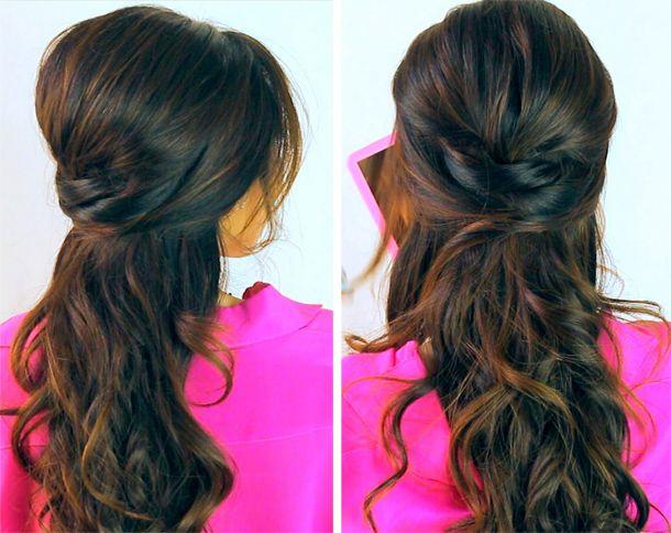 Abschluss Frisuren Halb Offen Frisur Pinterest Lange Haare