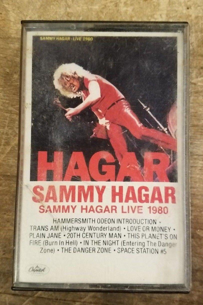 Sammy Hagar Live 1980 Cassette Sammy Hagar Cassette Red Rocker