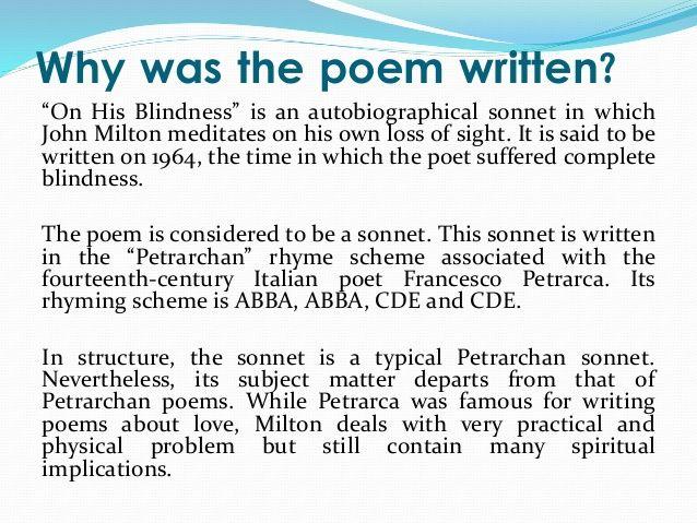 on his blindness poet~john milton poet~john milton poet~john milton