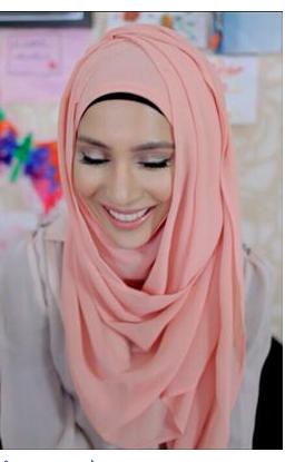 ma shaa Allah, pink hijab