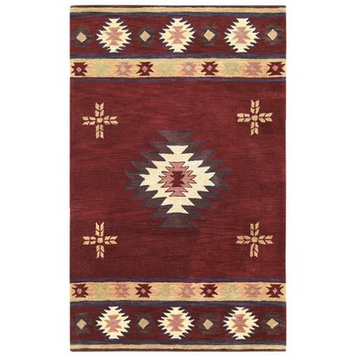 The Conestoga Trading Co Hand Tufted Wool Red Beige Brown Area