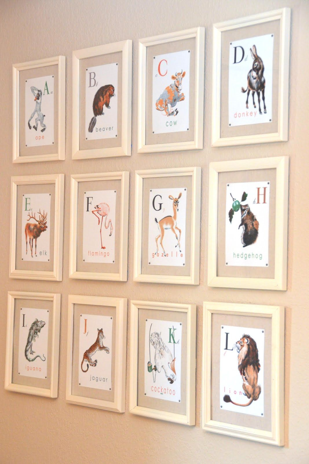 Framed Book Pages For A Baby Nursery Their