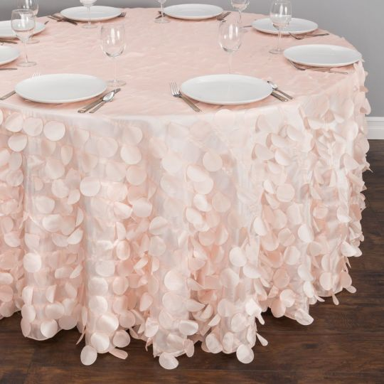 118 In Round Petal Tablecloth In 2020 Wedding Table Linens