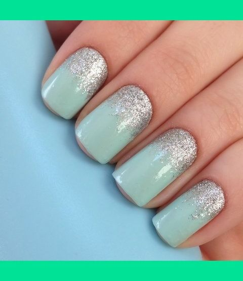 Mint Green Prom Nail: Paulina A.s (thatbeautysecret) Photo