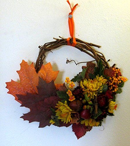 Wreath Autumn Fruits Flowers 13 Round Visit The Image Link More Details Fruit Flowers Christmas Decorations Fall Wreaths