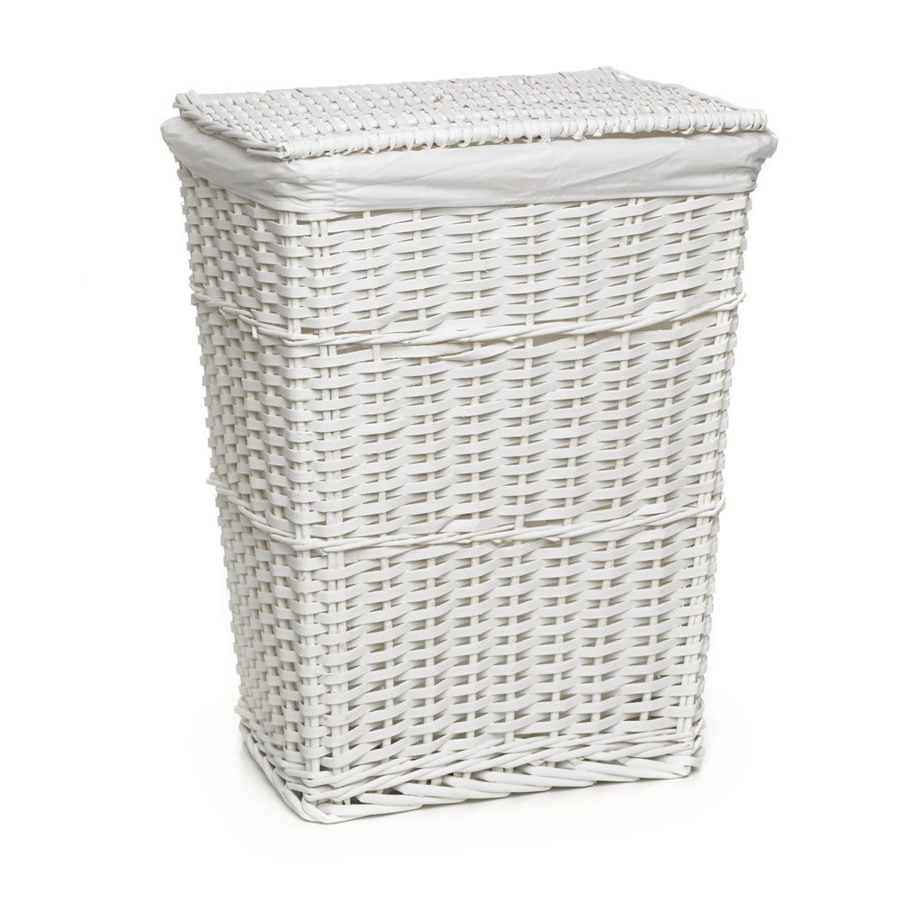9 Wilko Laundry Hamper White Split Wood Hampers Bathware From Wilkinson Plus