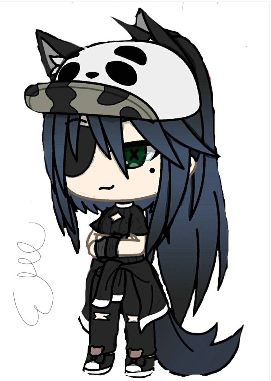 Rapper Alpha Support Gacha For More Anime Wolf Girl Cute Anime Character Cute Anime Chibi