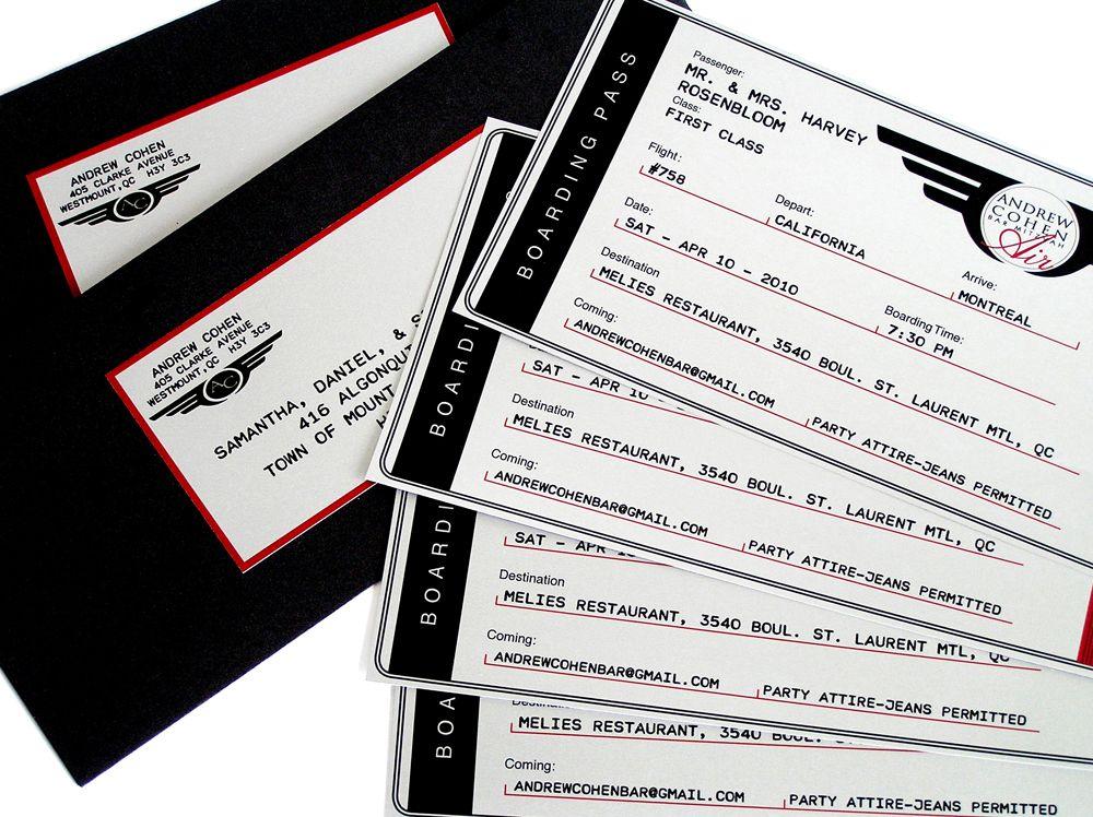 Airline Ticket Invitation wwwcameleon-designca Vuelos Baratos - airline ticket invitation