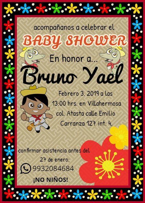 invitacion de baby shower tabasque u00f1o
