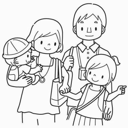 My Family Coloring Pages Coloring Pages Pinterest