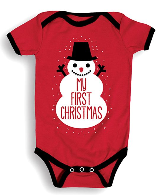 3b2a5f5c0388 shop best sellers db56f 4990e lap bodysuit 1st christmas ...