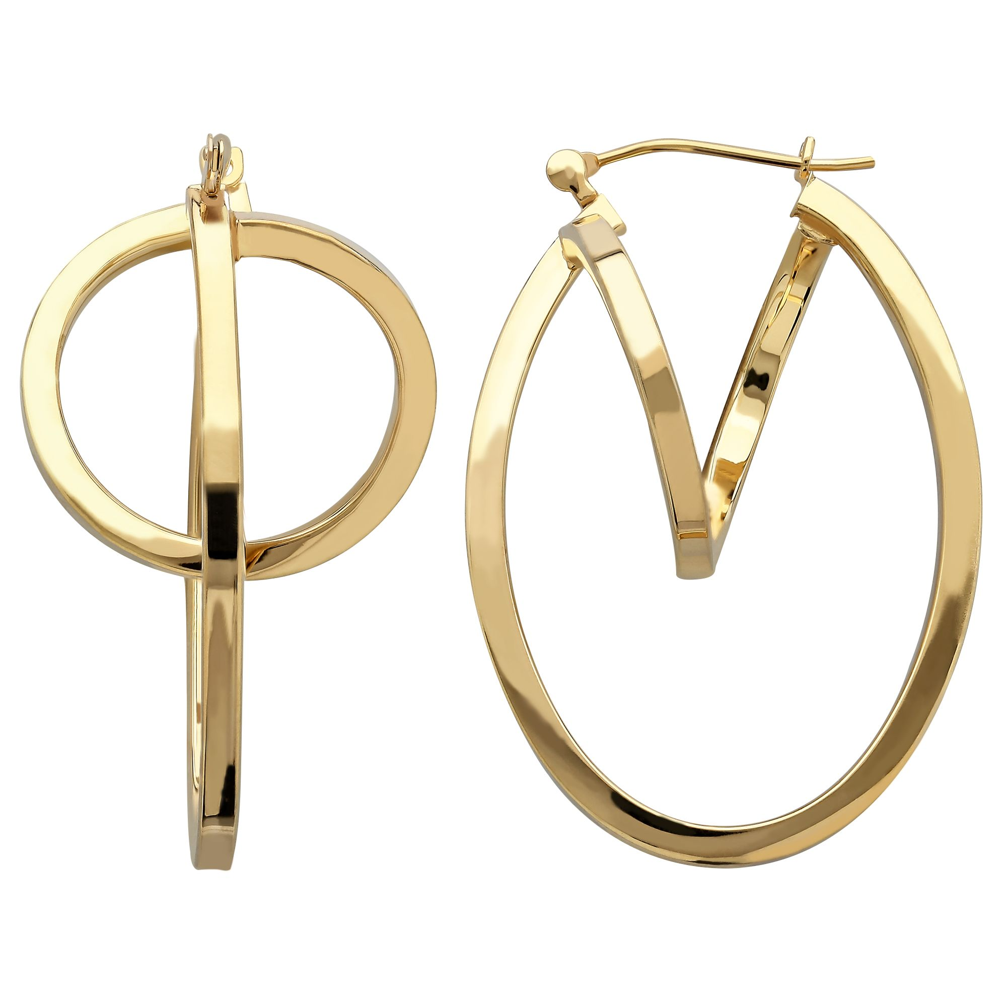 Obsessed. 14K Gold Eclipse Hoop Earrings from @Bon-ton #MayisGoldMonth #Gold #JumpinThroughHoops #MIGM #Earrings #Hoops