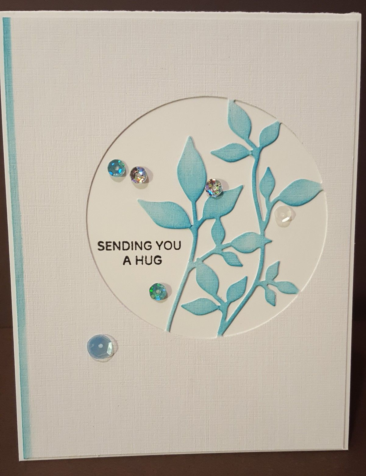 Simon Says Stamp Circle Of Leaves You Got This Nature Card Memory Box Cards Paper Smooches