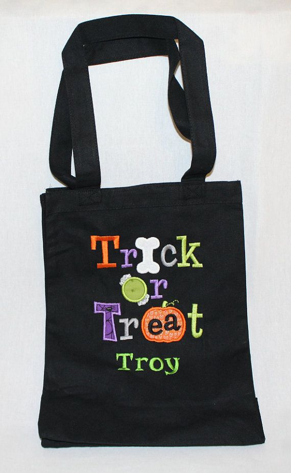 e3687392ab9b Halloween Trick or Treat Bag Halloween Tote Bag by shirehillbaby ...