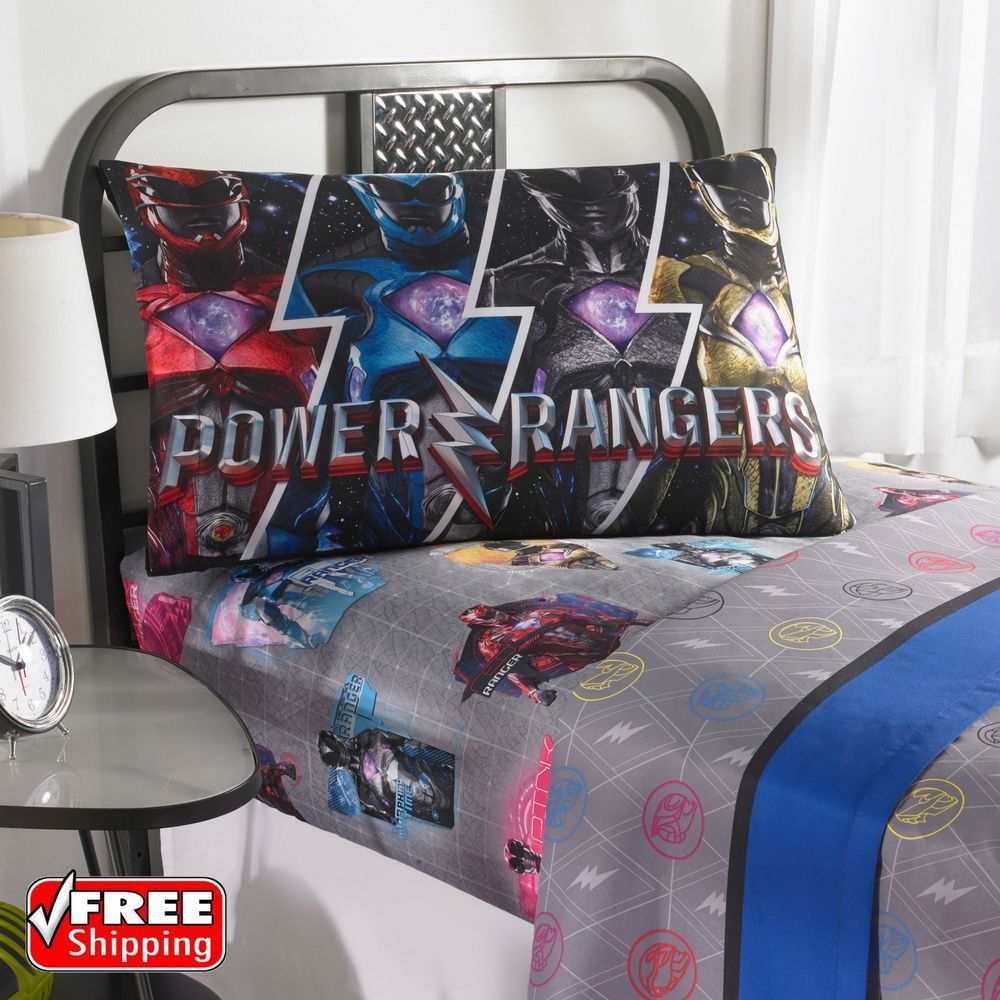 Power Rangers Band Together Bedding Sheet Set Twin Size New
