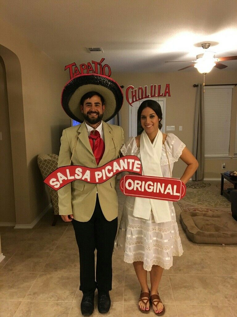 adult couple costumes tapatio and cholula hot sauce