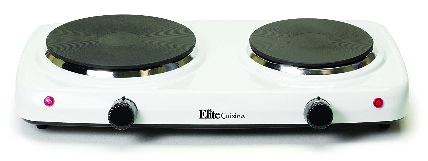 Elite Cuisine Edb 302f Maxi Matic Electric Double Buffet Burner With Dual Temperature Control White This Is An Amazon Aff Electric Stove Oven Range Cooktop