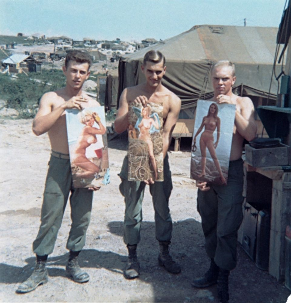 Marines Showing Their Favorite Pinup Girls Centerfolds