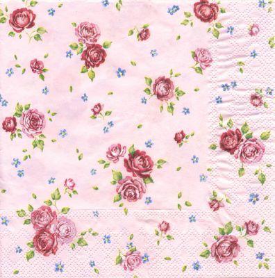 Papierservietten Roschen Rosa 2 95 Papierservietten Ausschneidebild Rosa Hintergrund