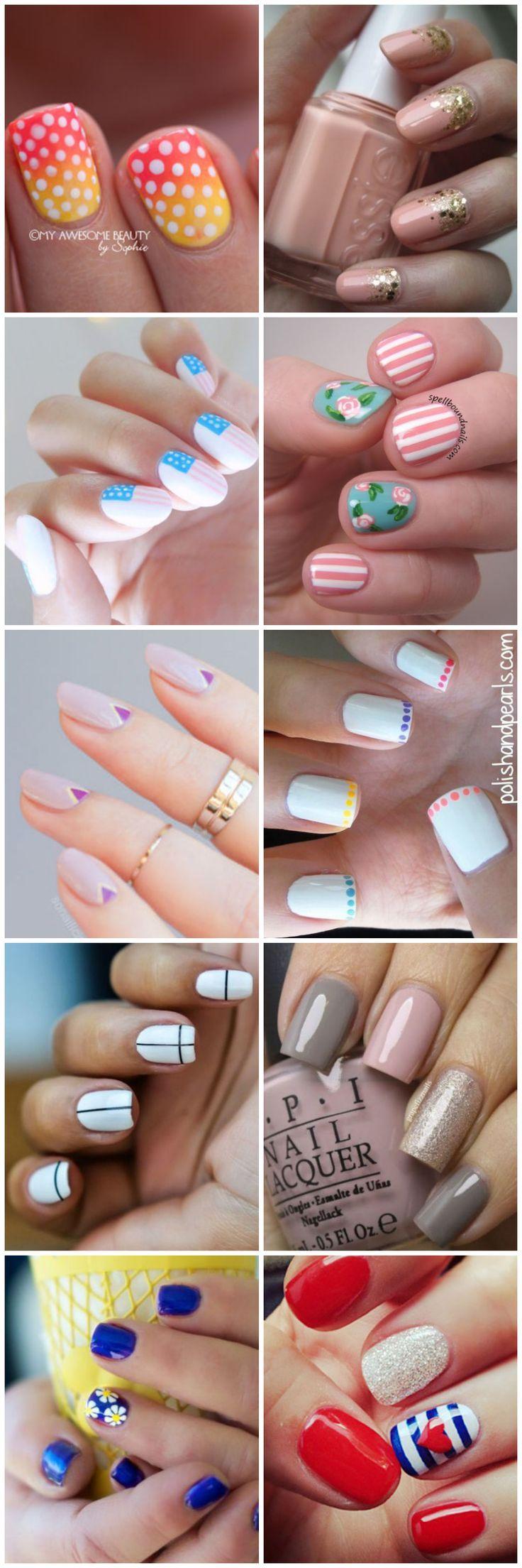30 Easy Nail Art for Beginners | #uñas | Pinterest | Easy nail art ...