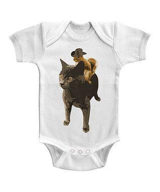 #zulilyfinds! White Squirrel Cowboy Bodysuit - Infant