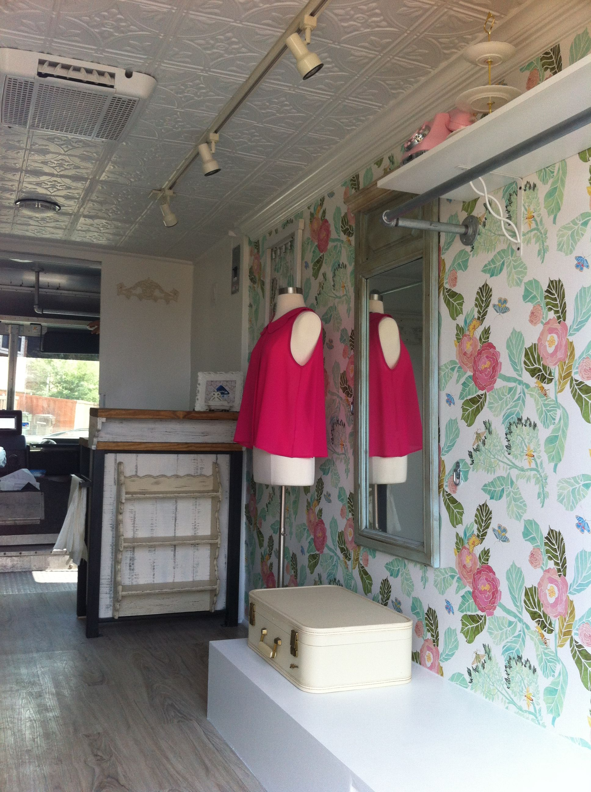 Inside the fashion truck.   My Rolling Closet Mobile ...