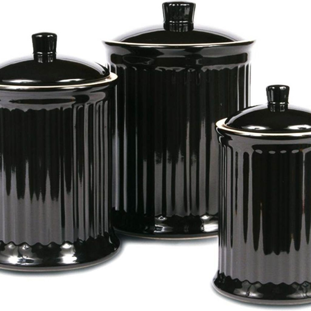 Black Canister Sets For Kitchen | Kitchens in 2019 | Kitchen ...