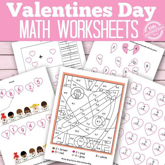 valentines day math worksheets free kids printables math worksheets worksheets and math. Black Bedroom Furniture Sets. Home Design Ideas