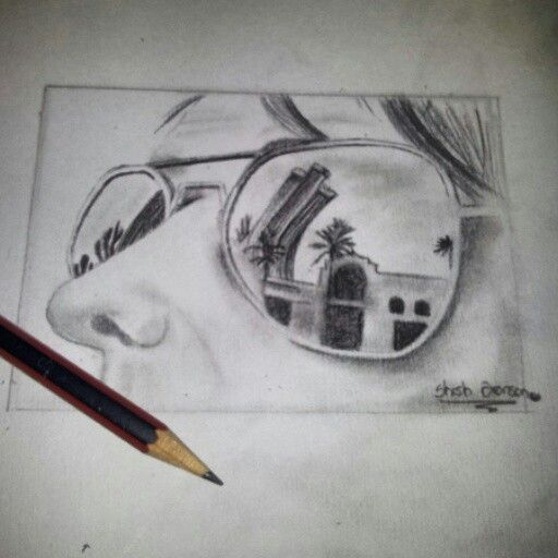 a9d39b9be929 Sunglasses reflection. ~Done by me