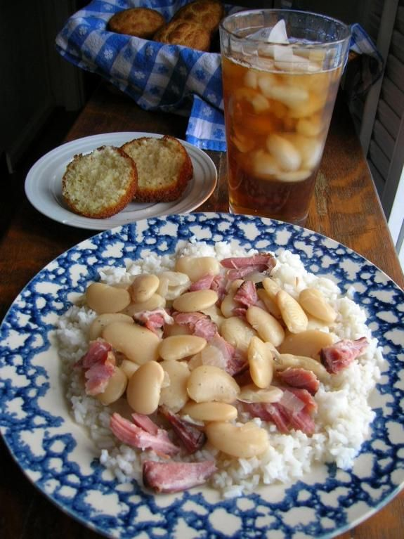 LIMA BEANS WITH HAM OVER RICE | The Southern Lady Cooks ...