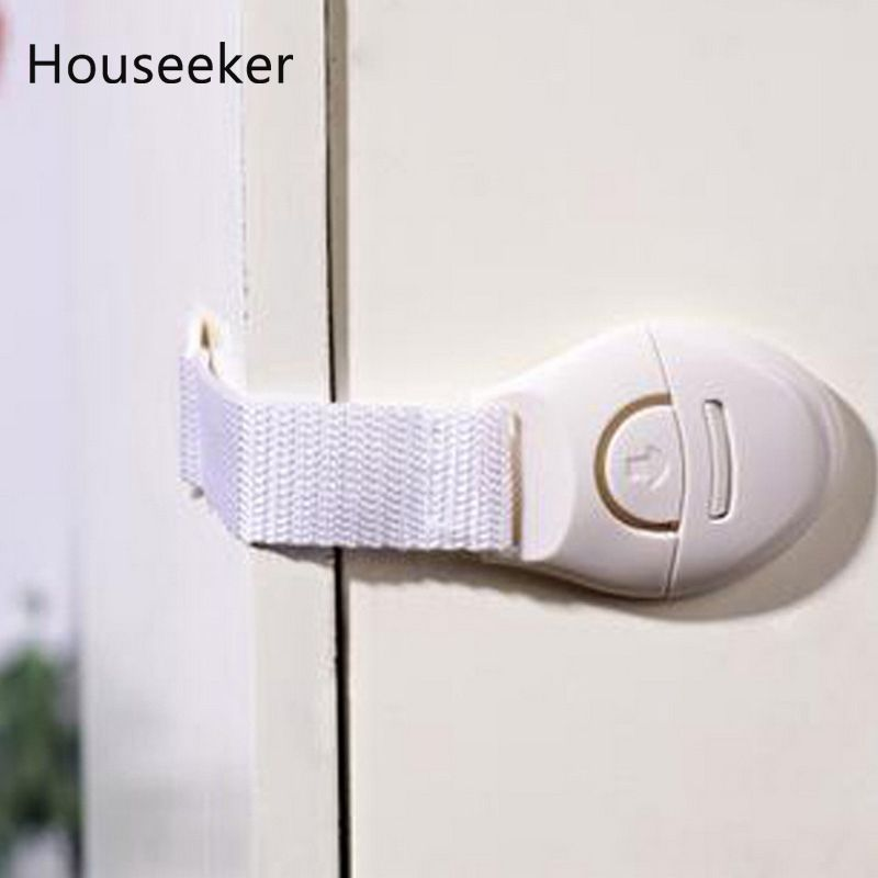 10pcs Baby Safe Lock Latches Cabinet Drawers Refrigerator Door Safe Plastic Lock