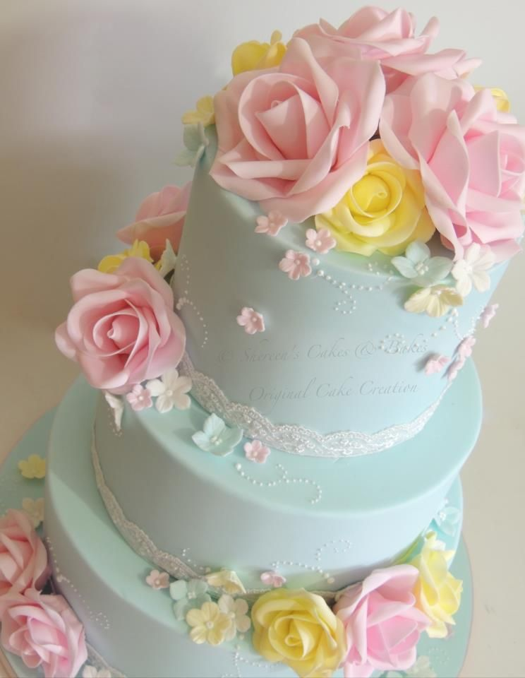 pink and blue wedding cake | leticiascakeco- Home page |Pink And Blue Wedding Cakes