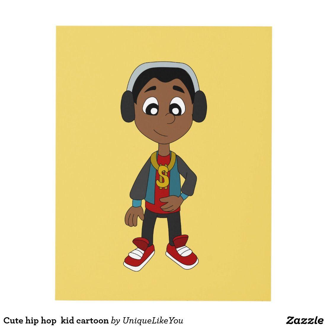 Cute hip hop kid cartoon panel wall art   Gifts for Kids   Pinterest ...