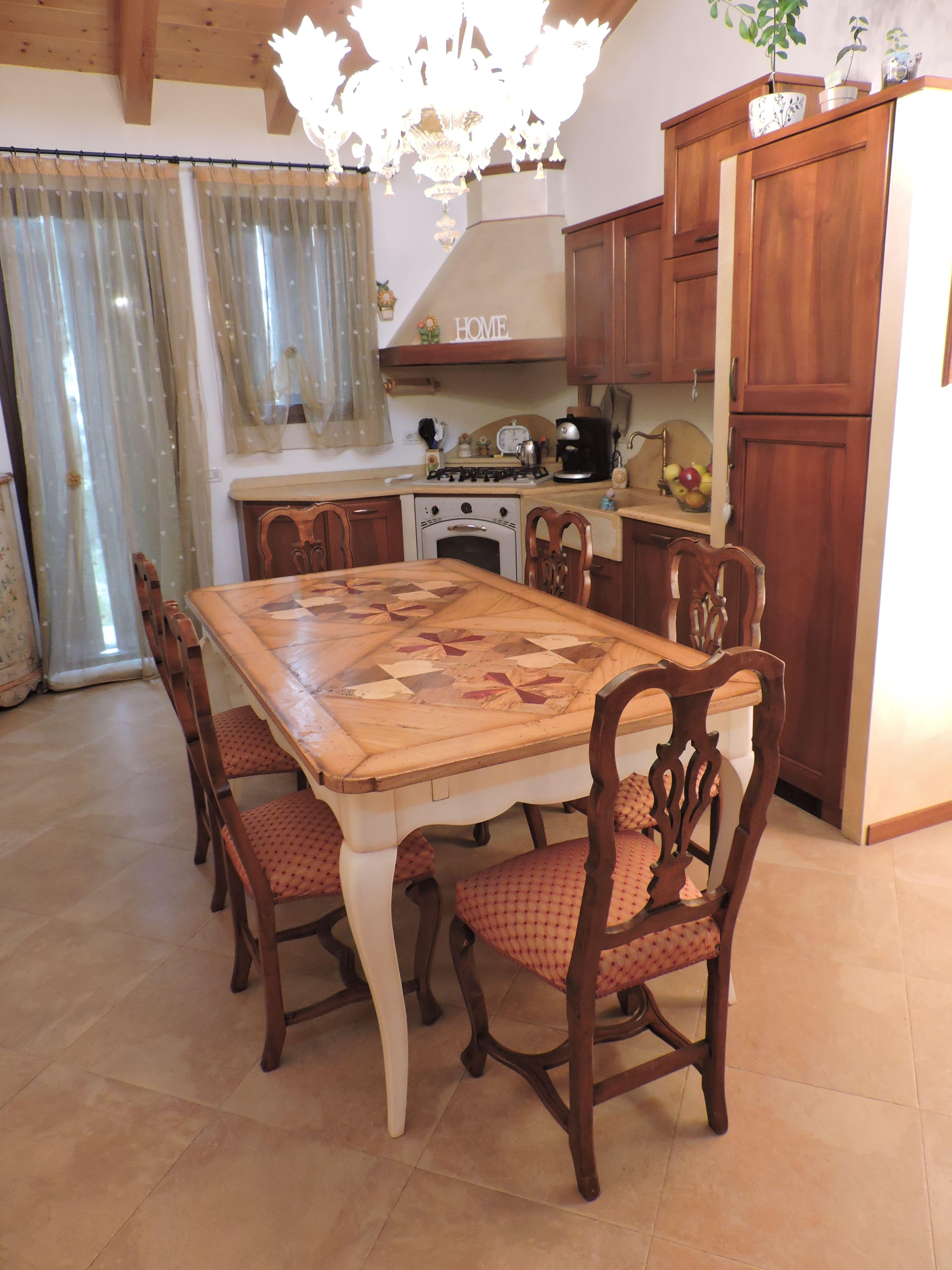 Tavolo in ciliegio con gamba provenzale mis. 180×100 cm ...