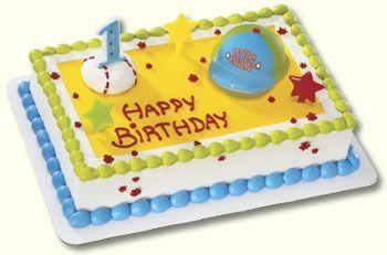 1st Birthday Boy Little Champ Cake Kit Candle Birthday boys
