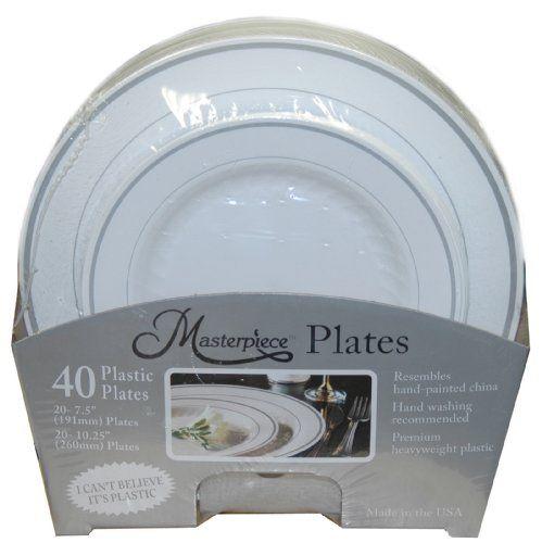 Masterpiece \ I can\u0027t believe it\u0027s plastic\  40 Plates (Includes 20 - 7.5\  Plates and 20 - 10.25\  Plates) WNA TM ...  sc 1 st  Pinterest & Masterpiece \