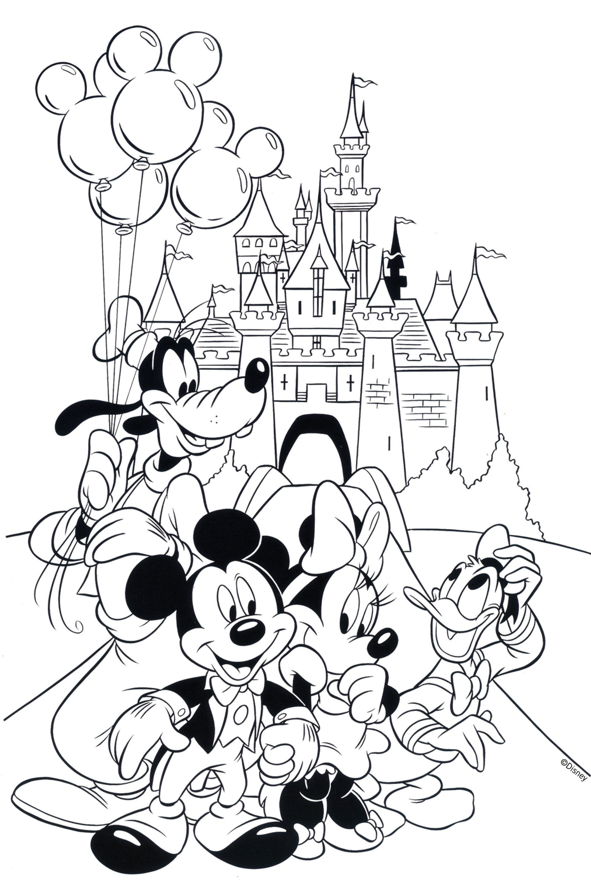 Happy Birthday Disney Coloring Pages Mickey Coloring Pages