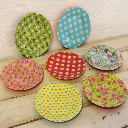 Colourful patterned melamine c&ing and picnic bowls and plates  sc 1 st  Pinterest & Melamine - Side Plates From pedlars.co.uk | furnishings for the nest ...