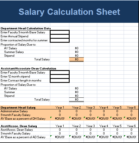 Salary Calculation Sheet Template As The Name Indicates Is