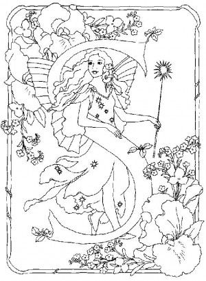 fairy alphabet 18 is a coloring page from alphabet coloring booklet your children express their imagination when they color the fairy alphabet they will - Fairy Coloring Books For Adults