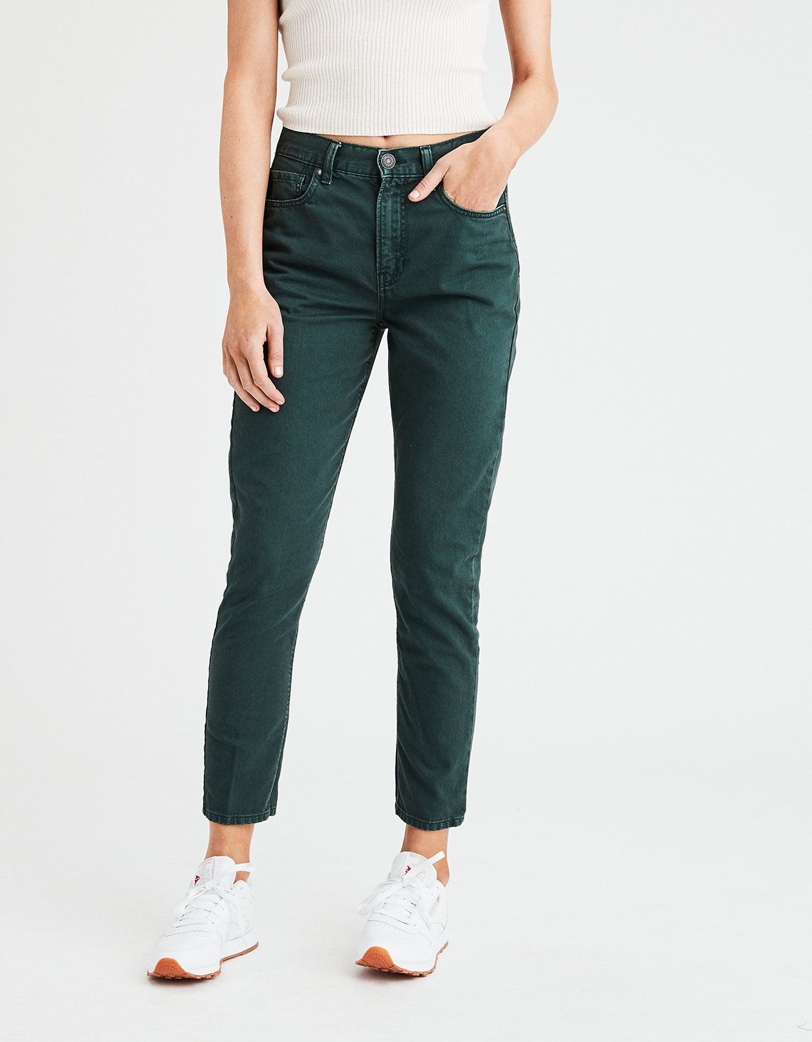 20ae6915ffbb pine green mom jeans | ae | christmas 2k18 | Mom jeans, Jeans, Mens ...