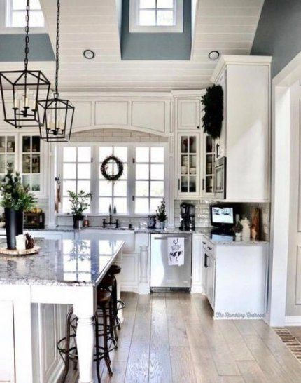 kitchen island lighting vaulted ceiling modern farmhouse 61 ideas home decor kitchen rustic on kitchen island ideas modern farmhouse id=35280