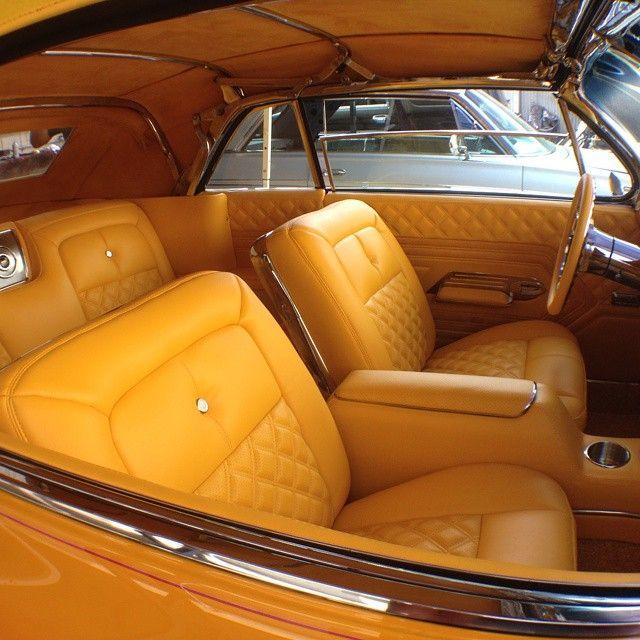62 impala chevy convertible yellow interior diamond stitch custom auto addiction interiors. Black Bedroom Furniture Sets. Home Design Ideas