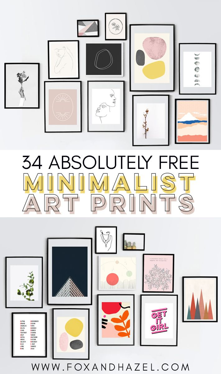 34 Totally Free Minimalist Art Prints | Fox + Hazel