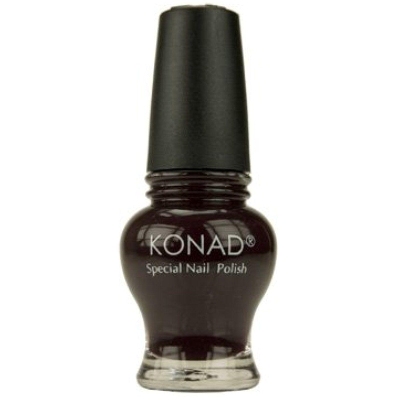 Konad nail art stamping princess special polish dark purple ml
